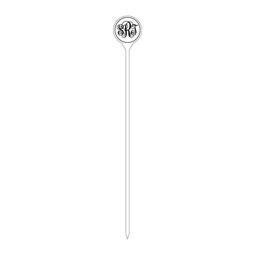 Hampton Monogram Acrylic Skewers