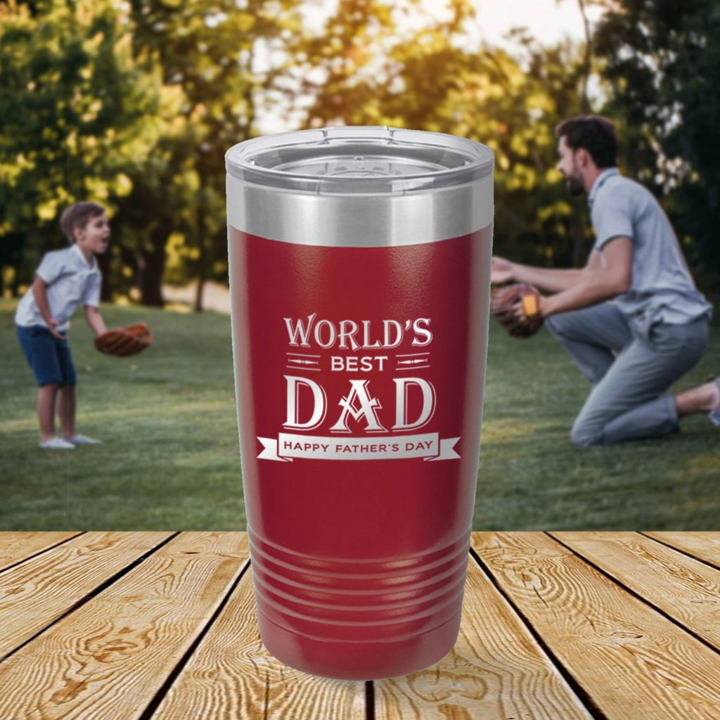 Custom World's Best Dad Engraved 20 oz Tumbler