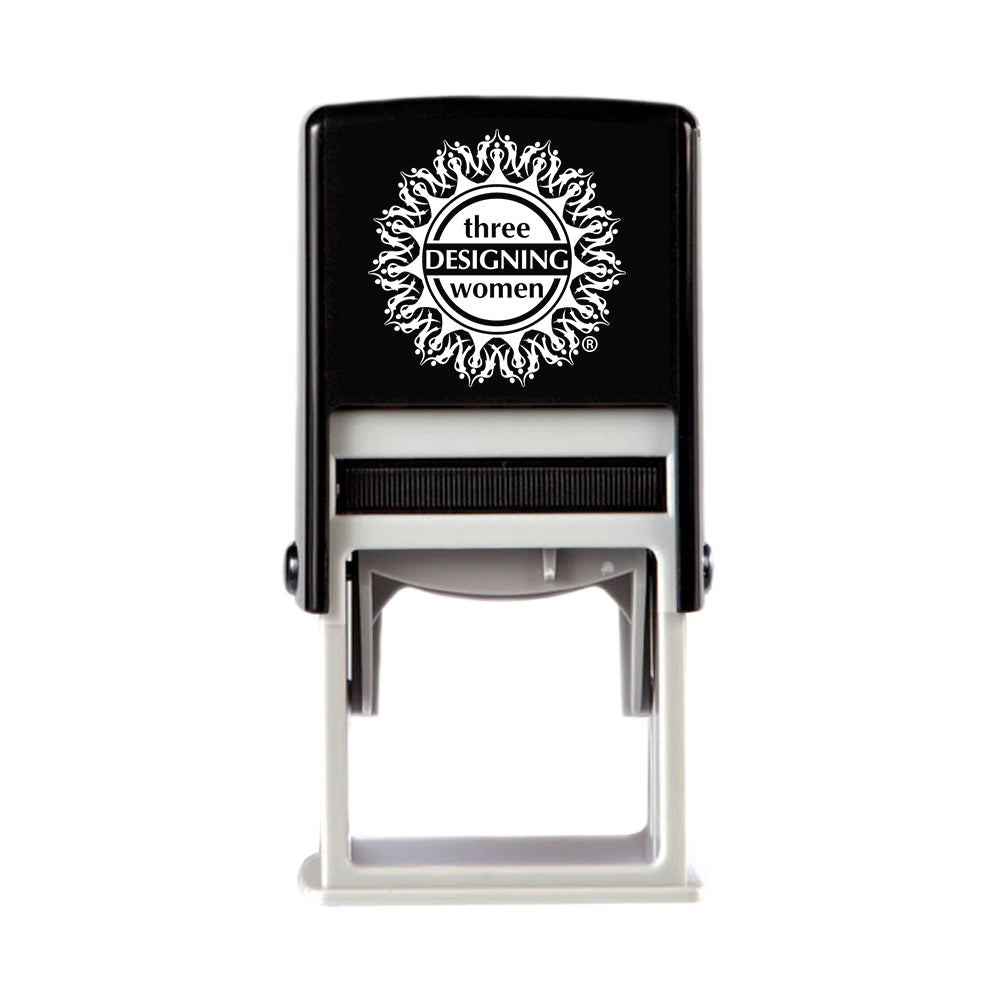 Stamper Device Only Designer Stamp Patented removable clip makes changing stamp designs clean and easy