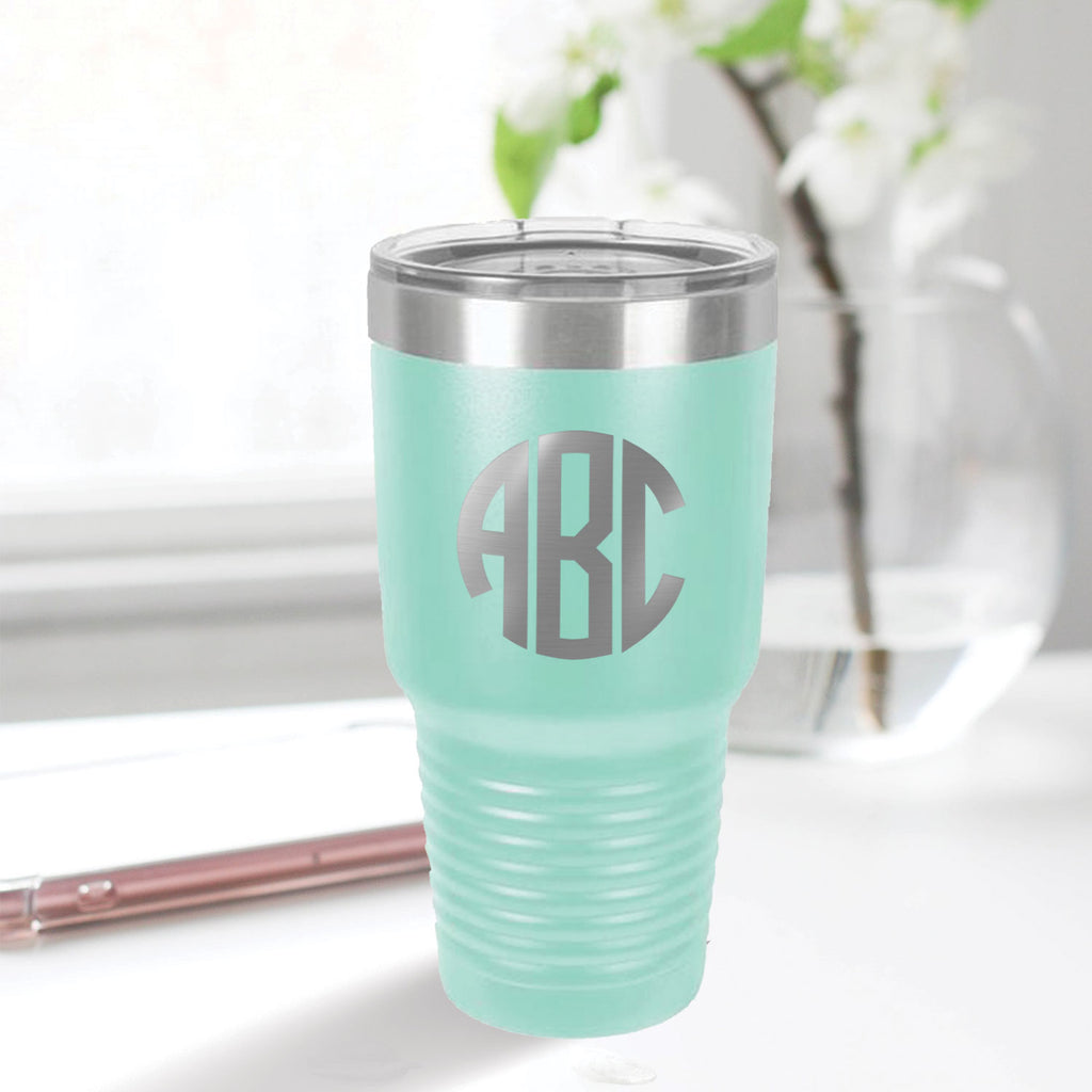 custom engraved 30 oz. tumbler drinkware best sellers aqua blue teal tiffany blue with clear lid