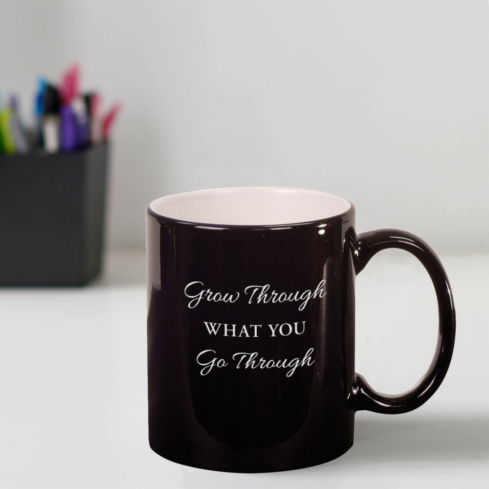 Custom Grow Through Engraved 11 oz Coffee Mug