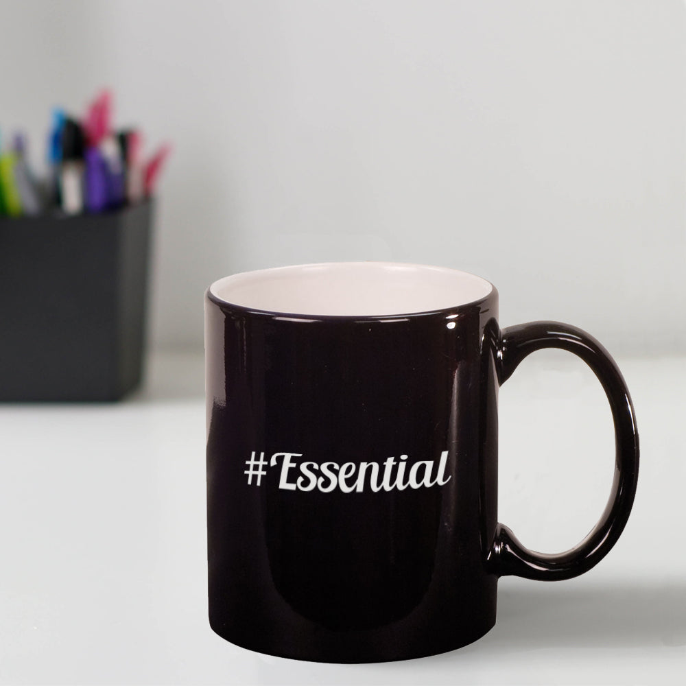 Custom #Essential Engraved 11 oz Coffee Mug