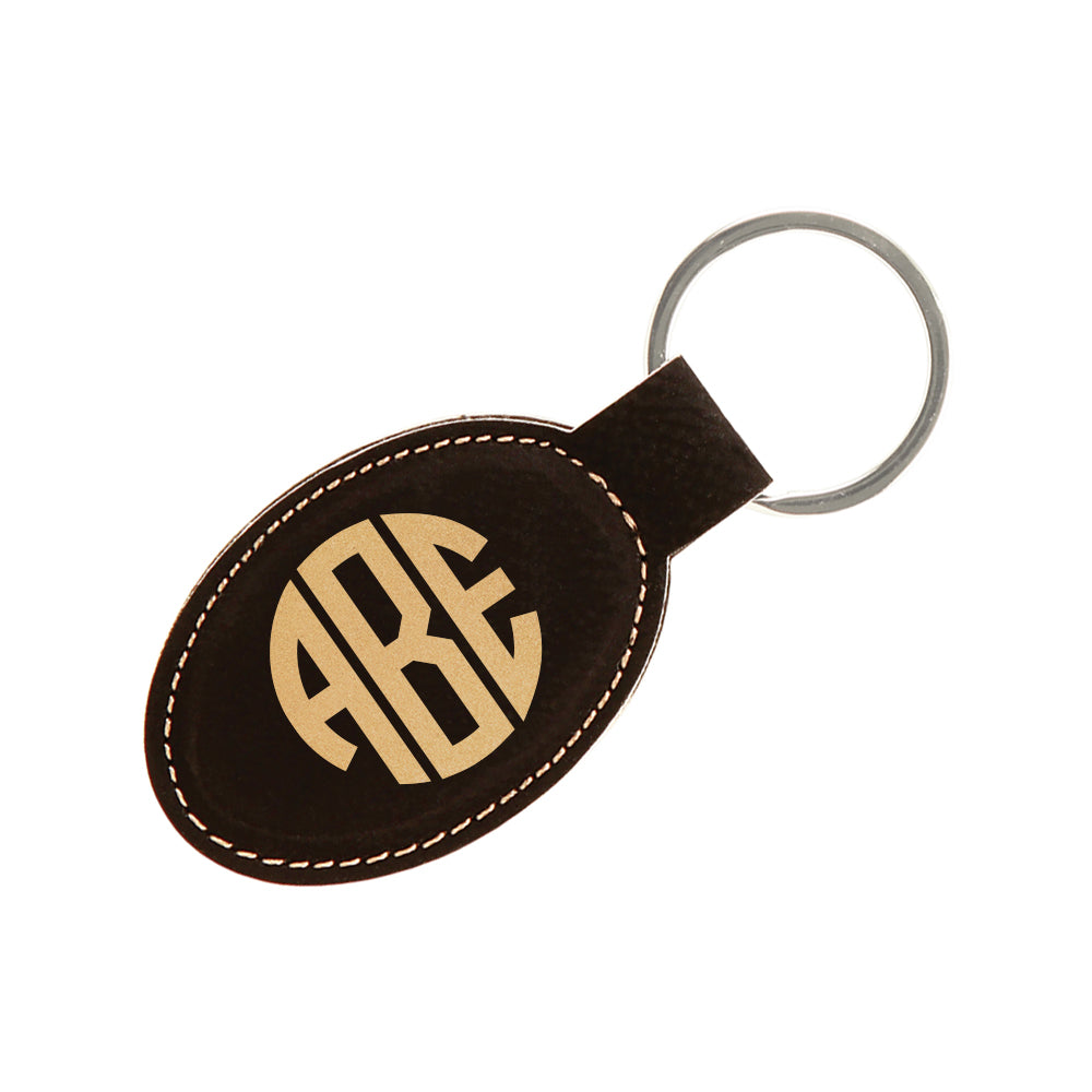 Leather Custom Engraved Key Fob