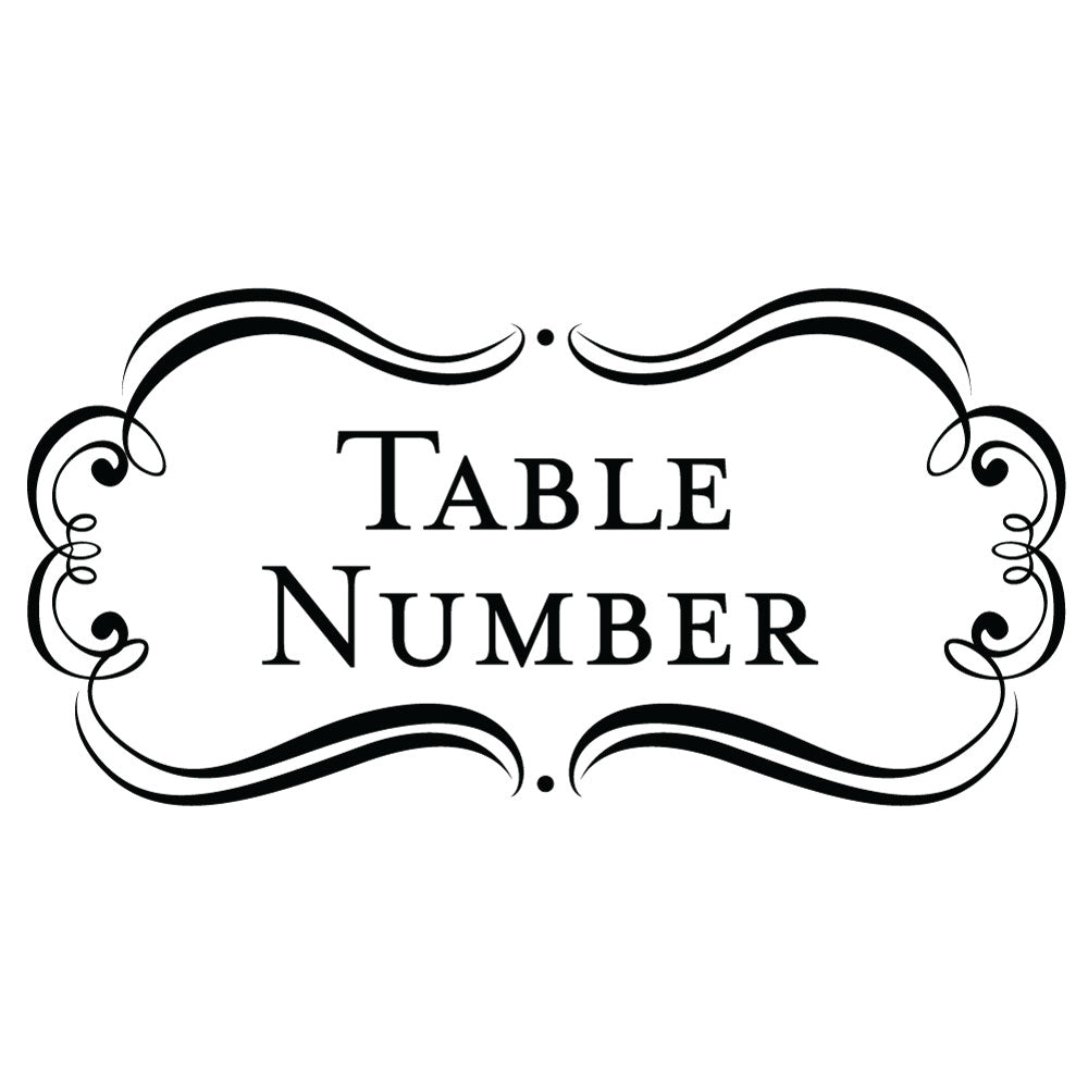 Bridal Amore Suite Table Number Wedding Mix & Match Designer Stamp