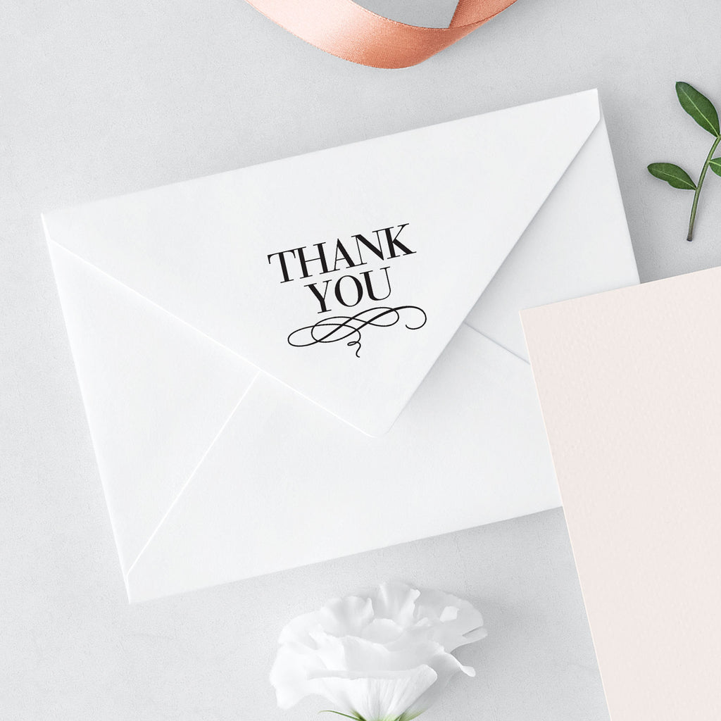 Bridal Luxe Suite Thank You Wedding Mix & Match Designer Stamp