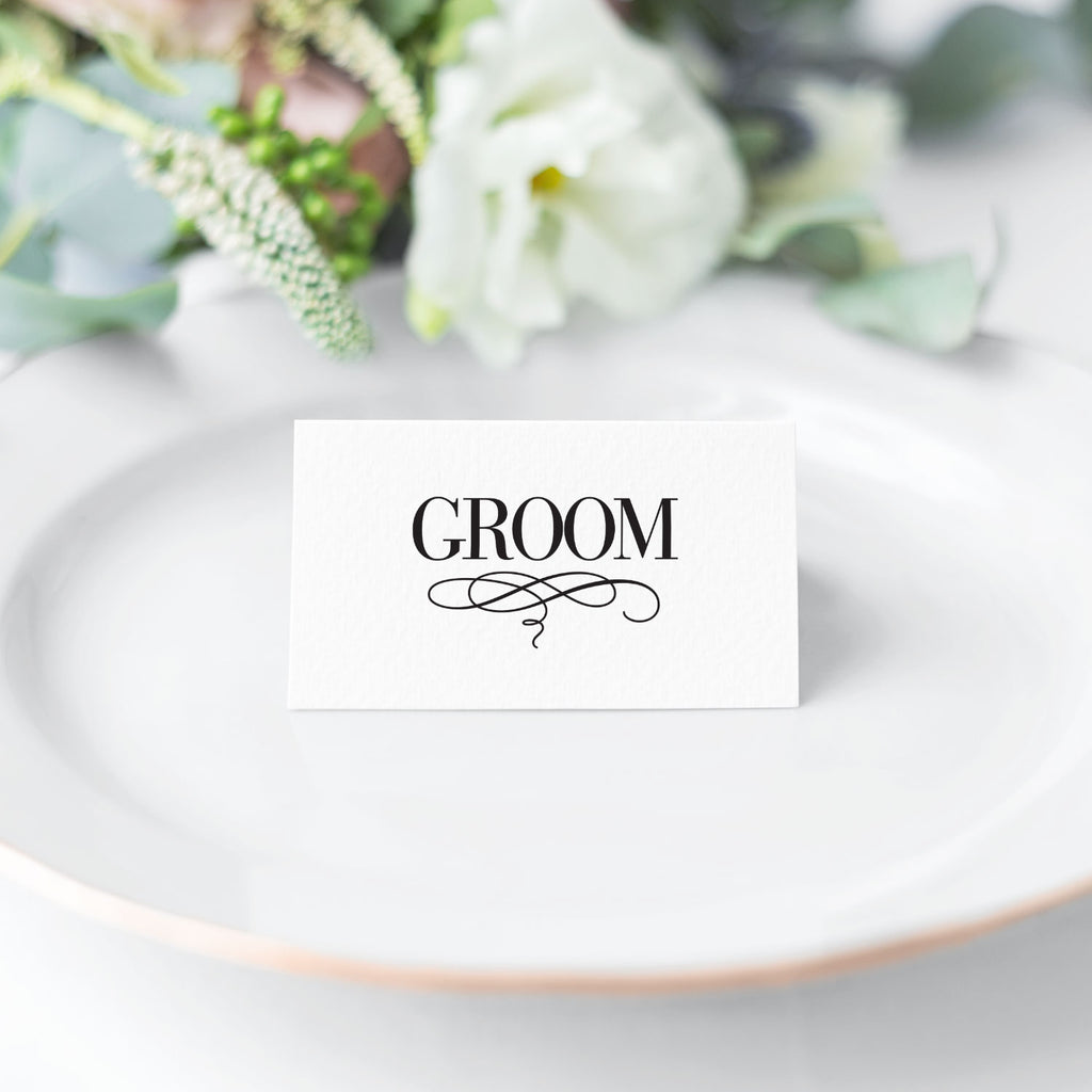 Bridal Luxe Suite Groom Wedding Mix & Match Designer Stamp