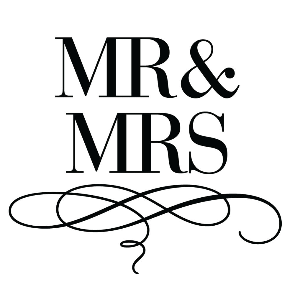 Bridal Luxe Suite Mr & Mrs Wedding Mix & Match Designer Stamp