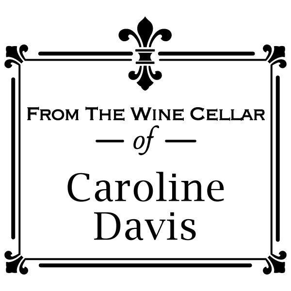 Square From The Wine Cellar Of Name Custom Designer Stamp