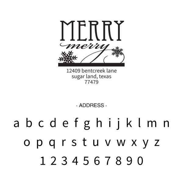 Holiday Merry Merry Return Address Custom Designer Stamp
