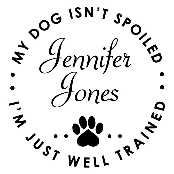 Round Dog Funny Name Signature Custom Designer Stamp