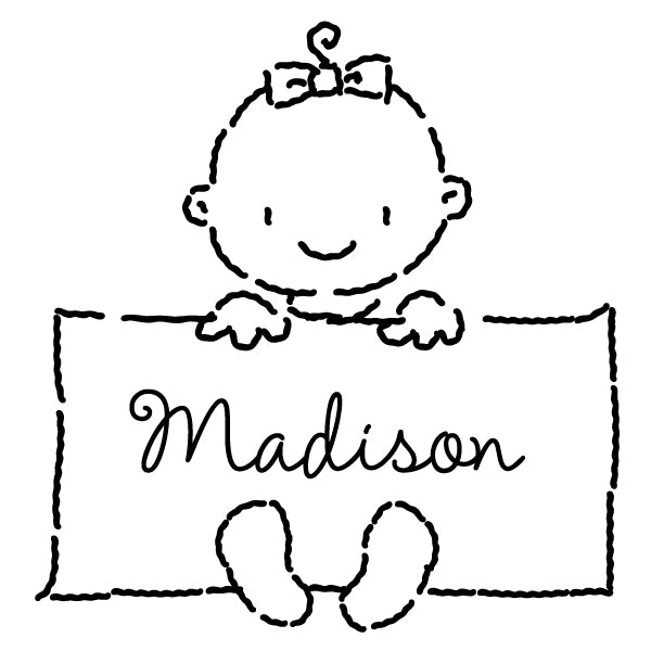 Baby Girl Name Custom Designer Stamp