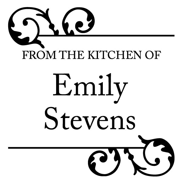 From The Kitchen Of Name Custom Designer Stamp