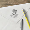 Pi Beta Phi College Panhellenic Sorority Chapter Name Return Address Custom Designer Stamp
