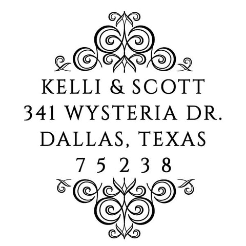 Return Address Couple Custom Designer Stamp