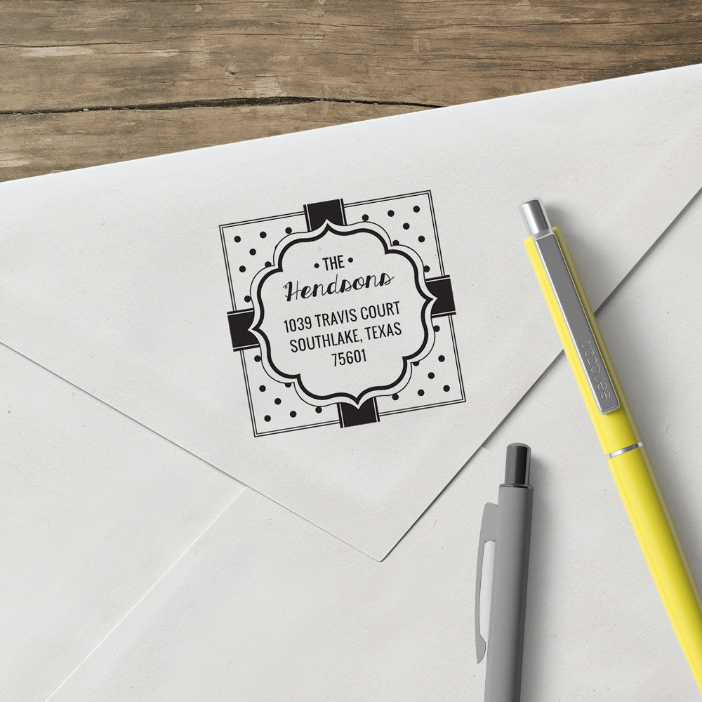 Holiday Present Family Return Address Custom Designer Stamp