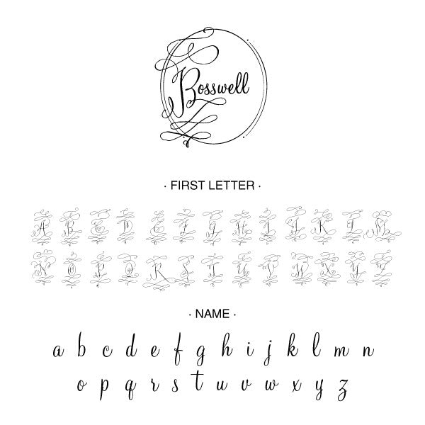 Round Name wedding Custom Designer Stamp