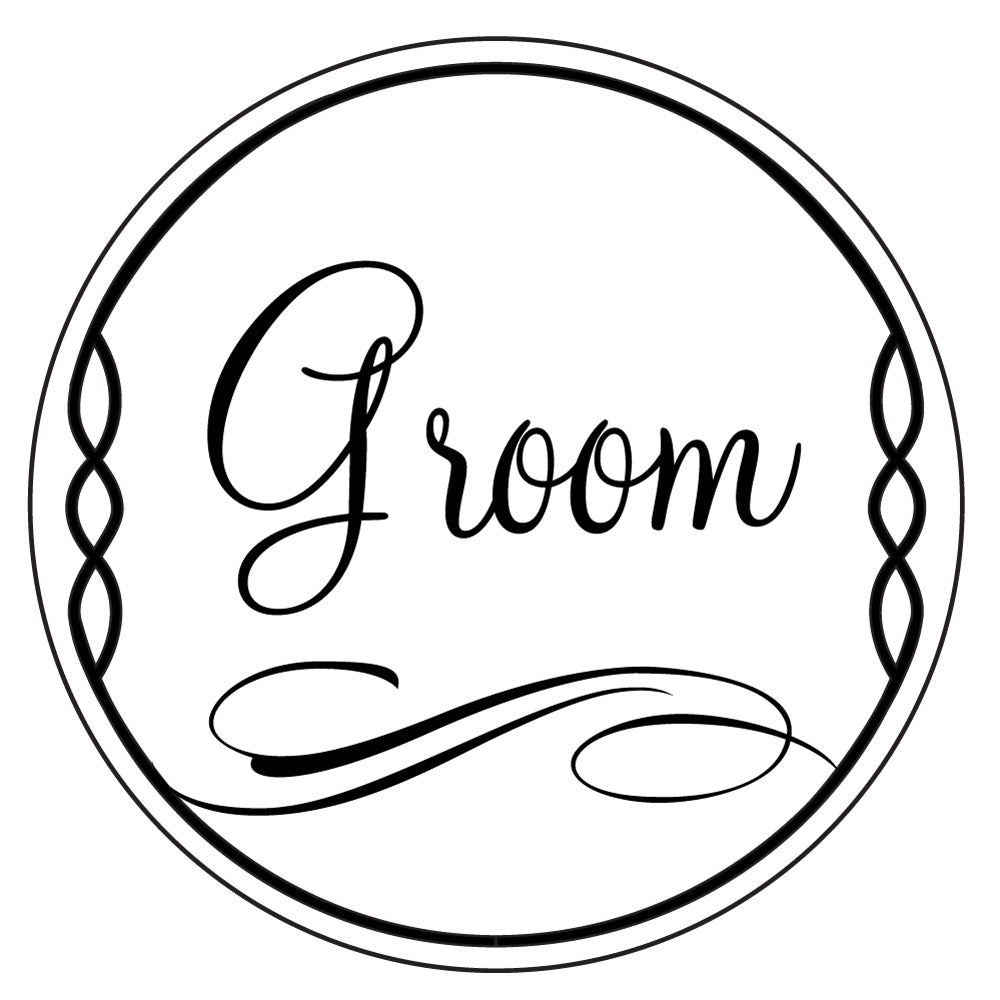 Bridal Ever After Wedding Suite Round Groom Mix and Match Designer Stamp