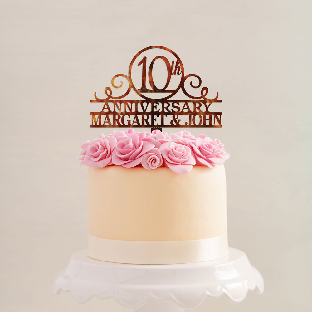 Custom Acrylic Anniversary Happy Number names Cake Topper