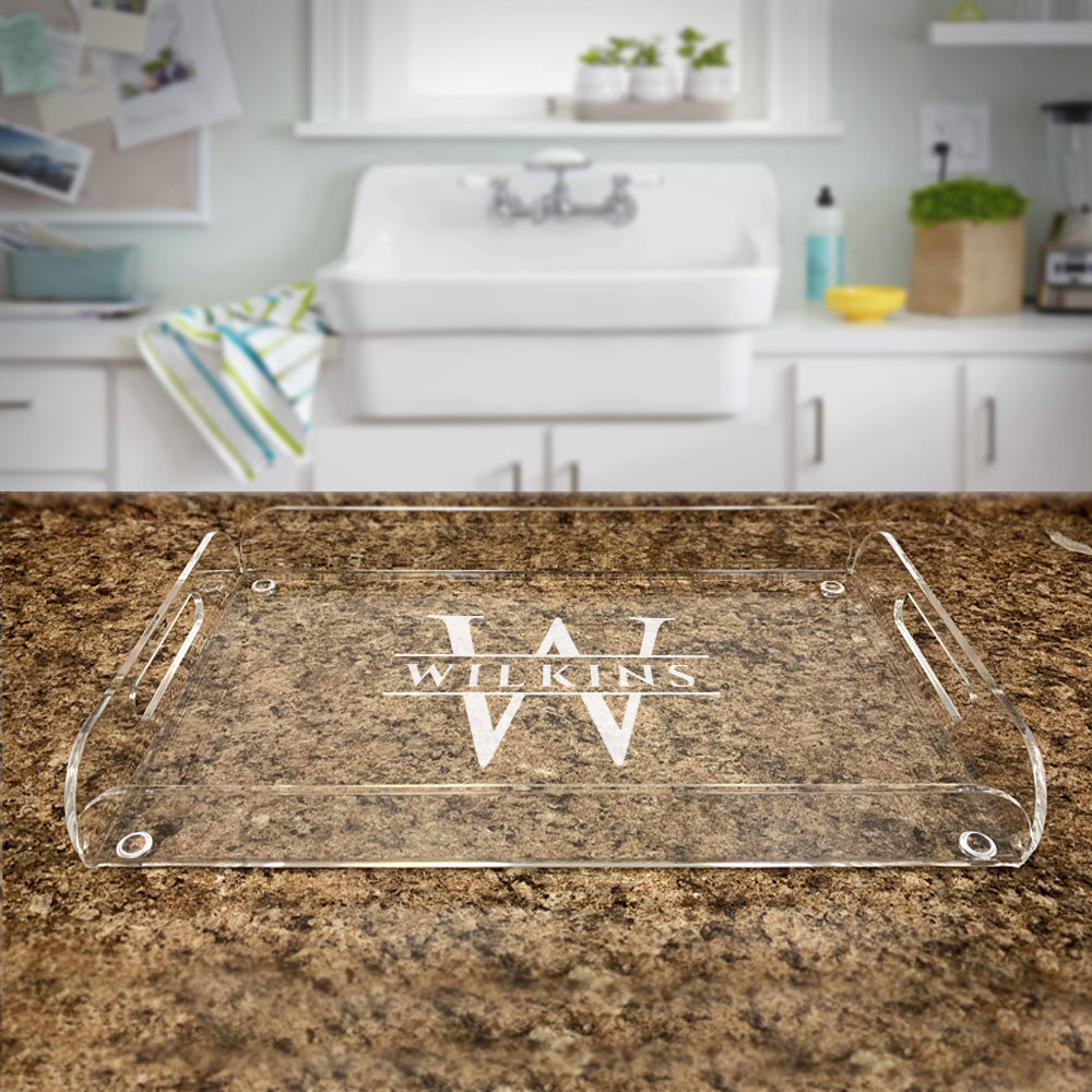 Custom Engraved Acrylic Serving Tray