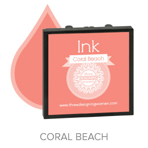 Coral Beach Replaceable Stamper Ink Pad Good for Over 1000 Impressions