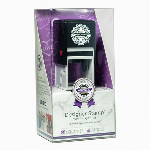 Three Designing Women Custom Designer Stamp Gift Box