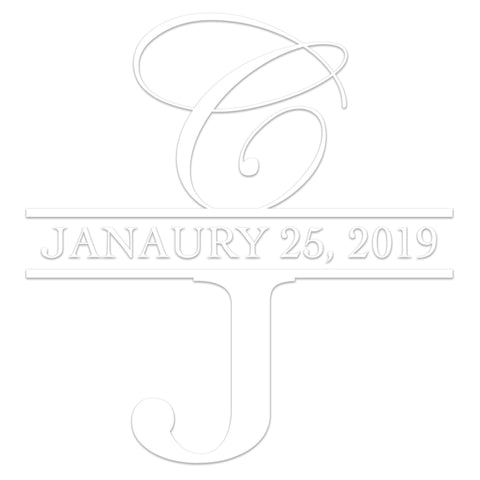 Wedding initials and date Custom Designer Embosser