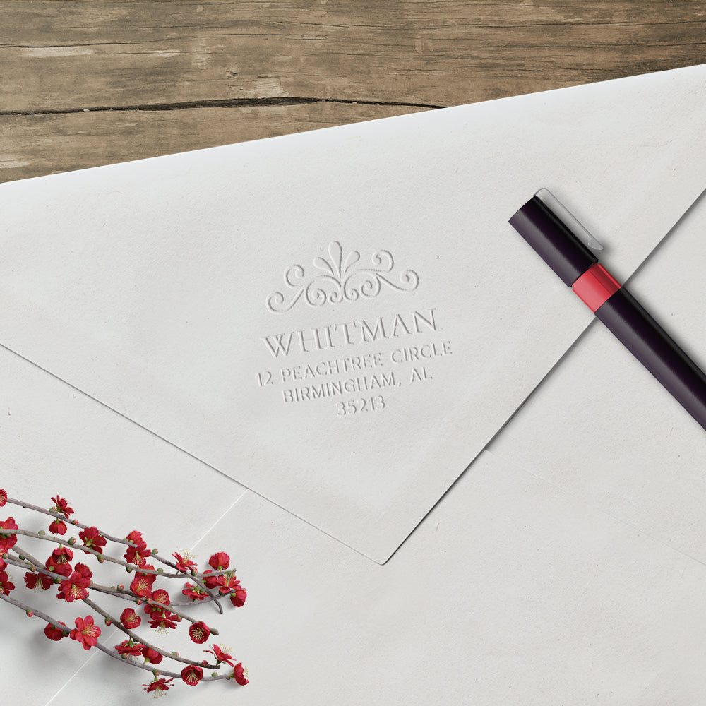 Return Address Last Name Custom Designer Embosser