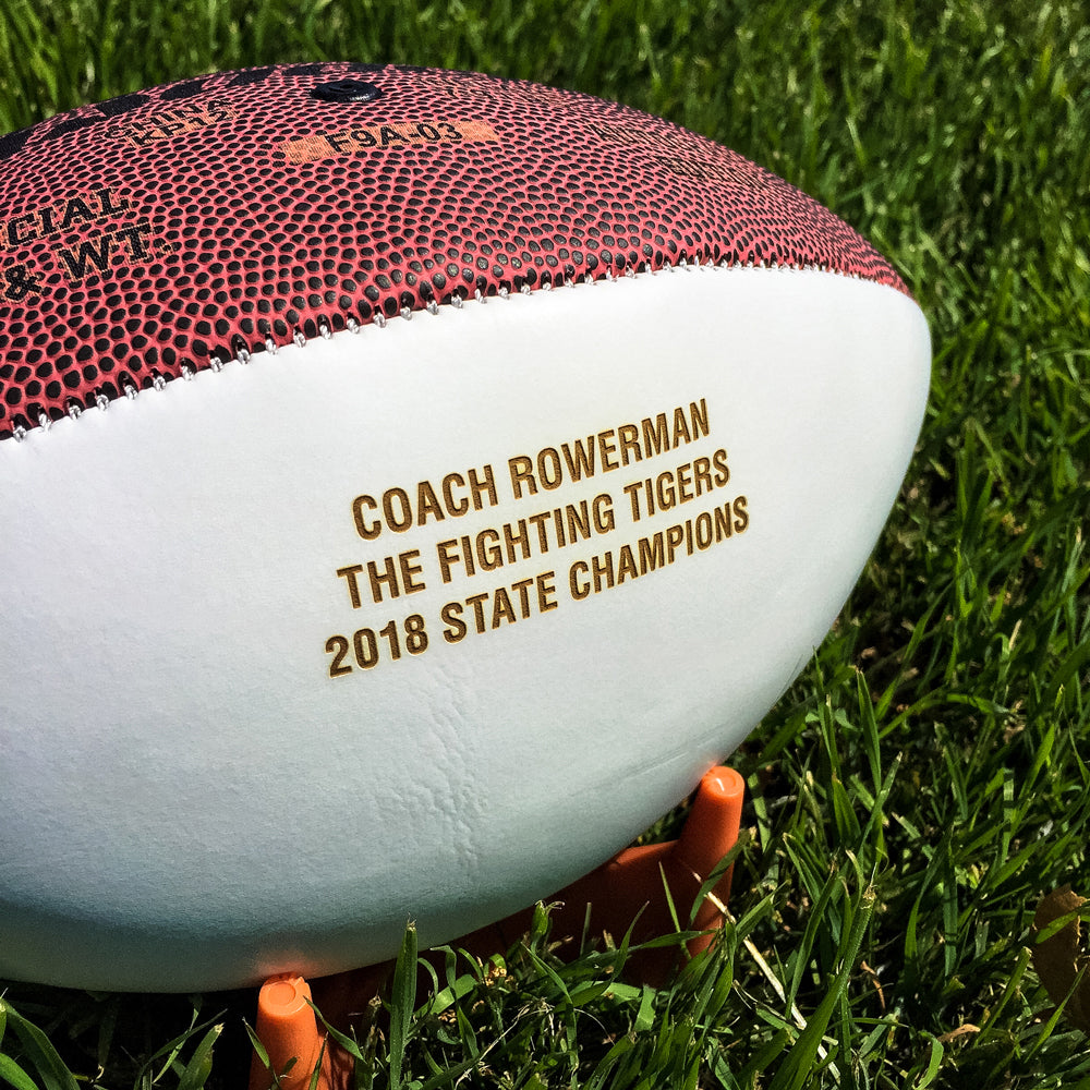Custom Engraved Football from Artisan Stamps artisanstamp