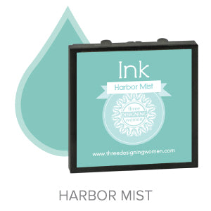 Harbor Mist Blue Replaceable Stamper Ink Pad Good for Over 1000 Impressions
