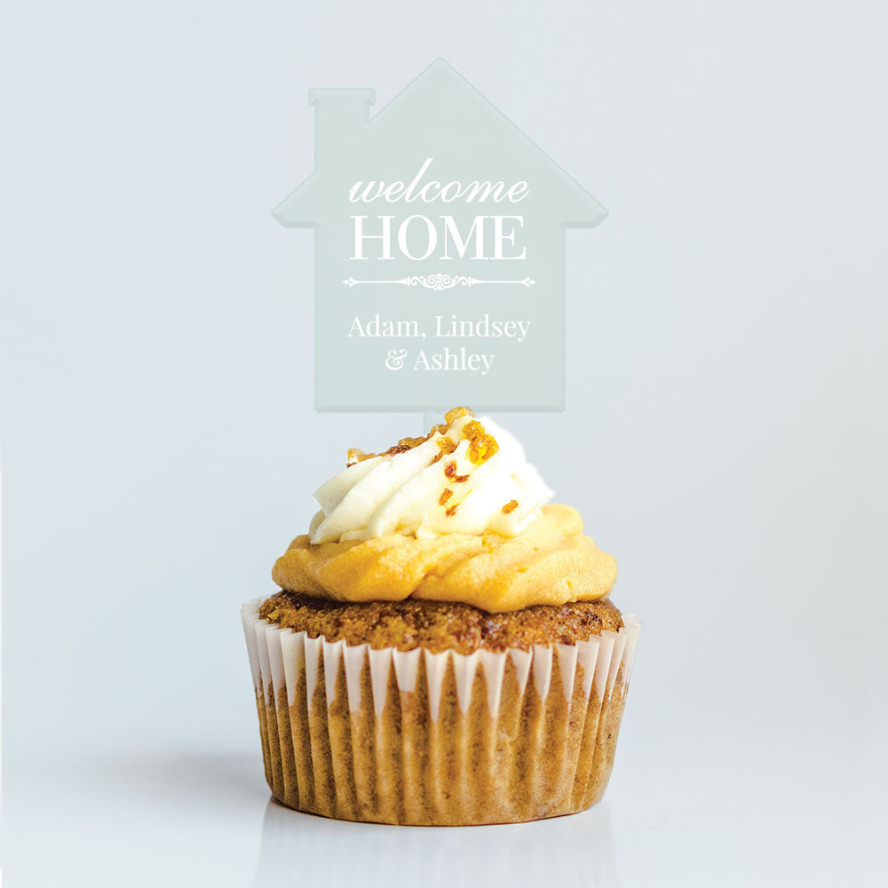 Welcome Home Cupcake Topper