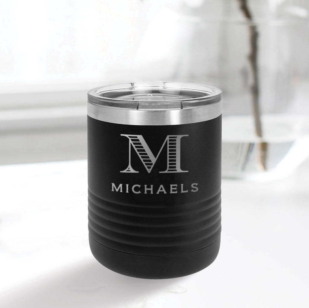 Custom Engraved 10 oz Low Ball Tumbler