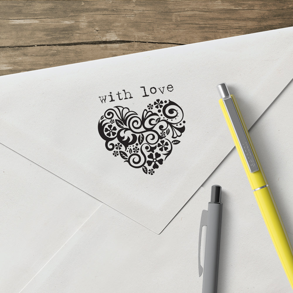 Square Salutations Heart with Love Mix and Match Designer Stamp Clip from Artisan Stamp