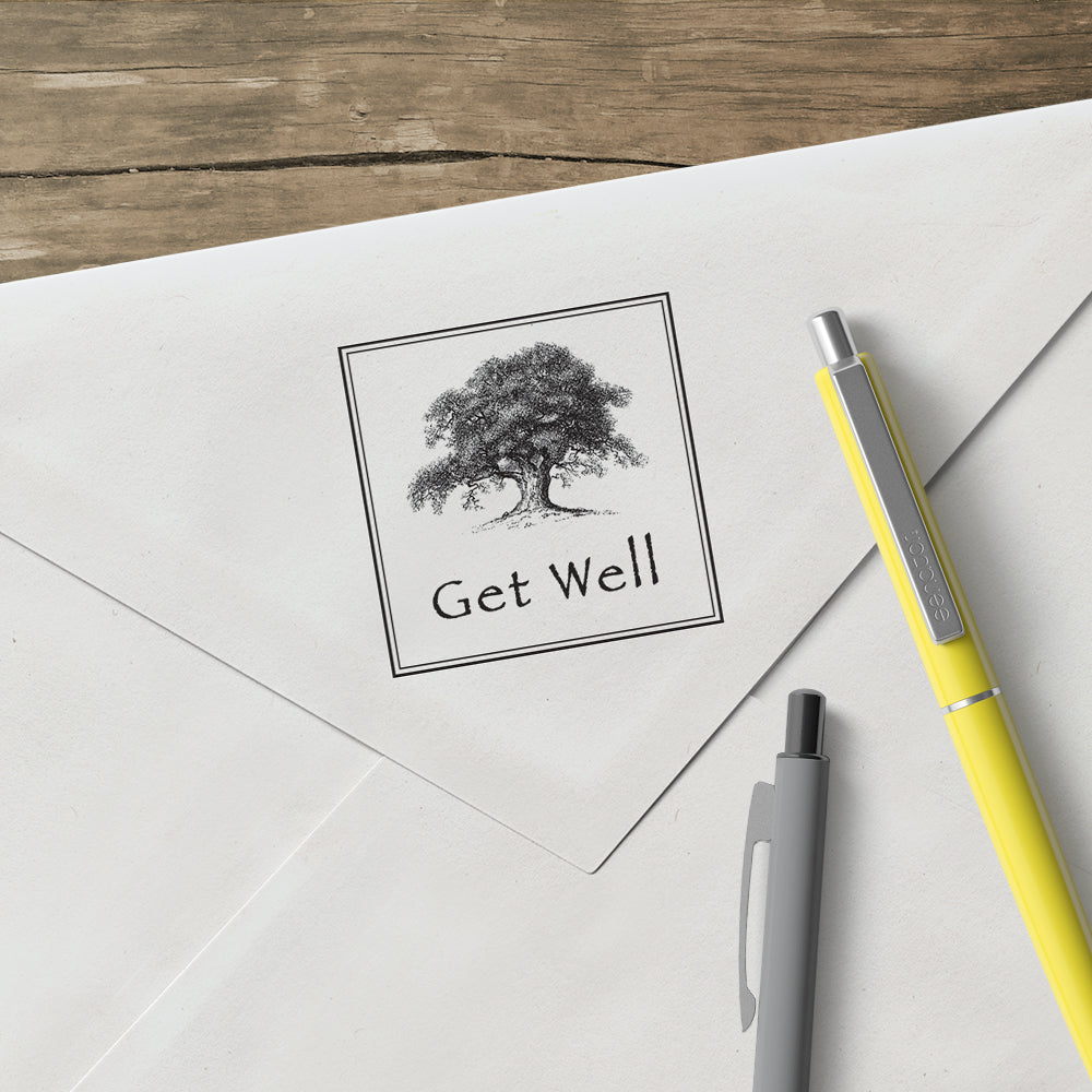 Oak Tree Get Well Stamp