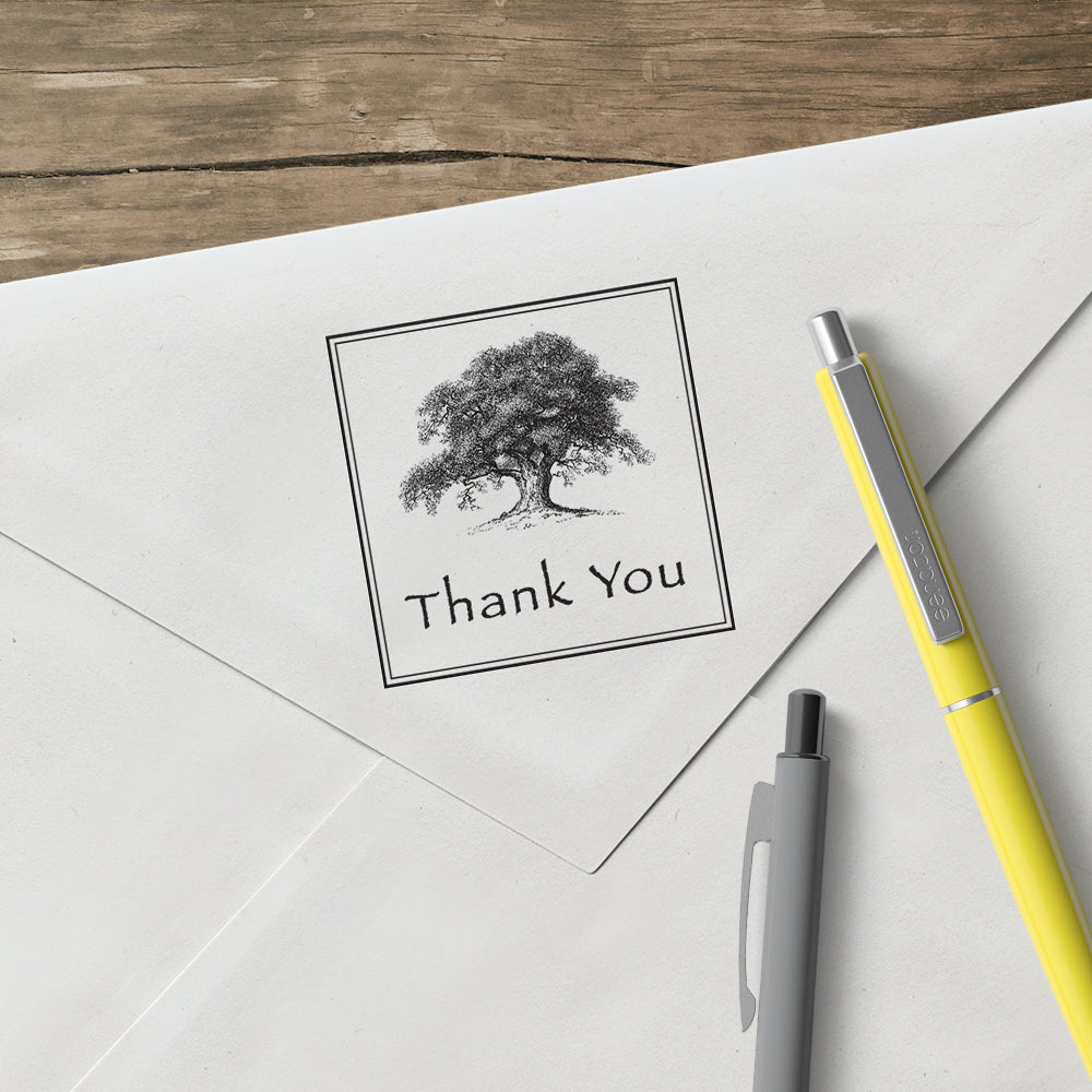 Salutations_Oak Tree Thank You Stamp