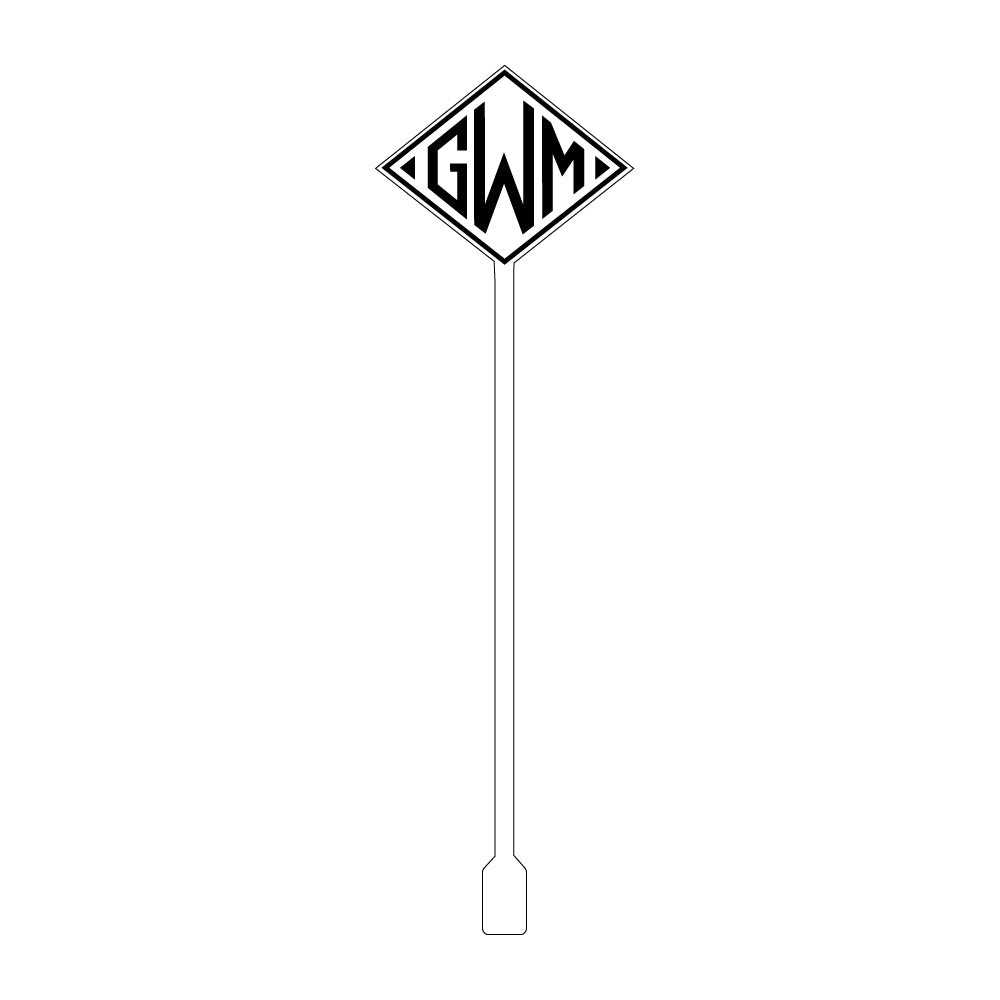 Diamond Monogram Acrylic Stir Sticks