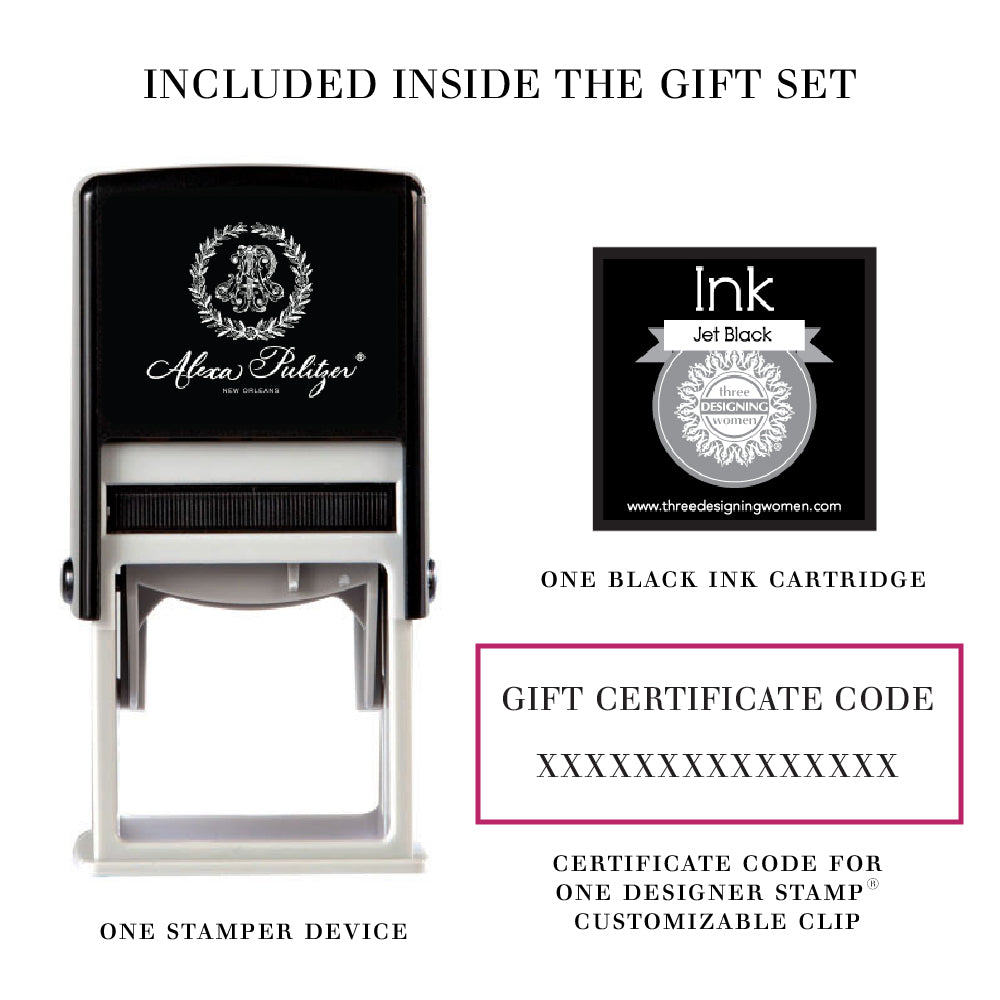 Designer Stamp™ Address Gift Set from Alexa Pulitzer