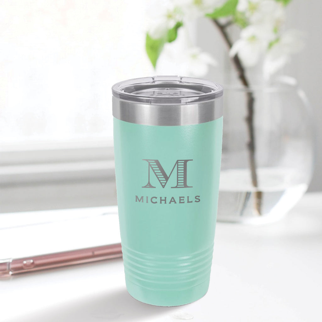 custom engraved 20 oz. tumbler drinkware best sellers aqua blue teal tiffany blue with clear lid