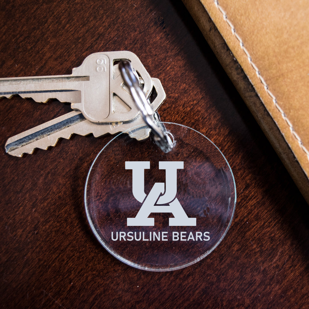 Ursuline Bears Frosted Engraved Key Fob