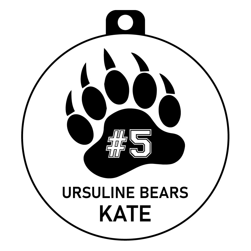 Ursuline Bears Gift Tag Ornament