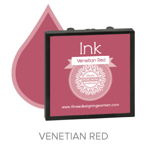 Venetian Red Replaceable Stamper Ink Pad Good for Over 1000 Impressions