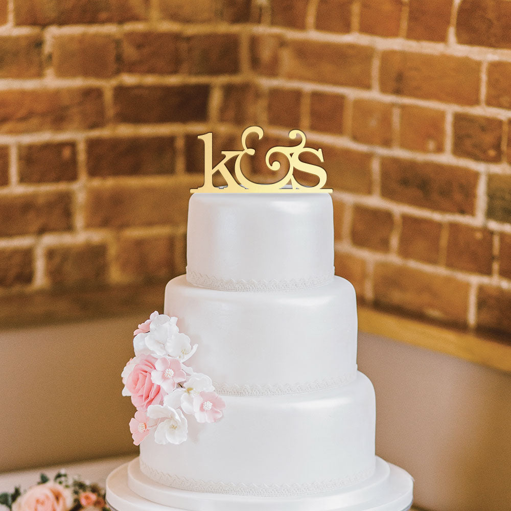 Custom Acrylic Wedding Initials Cake Topper