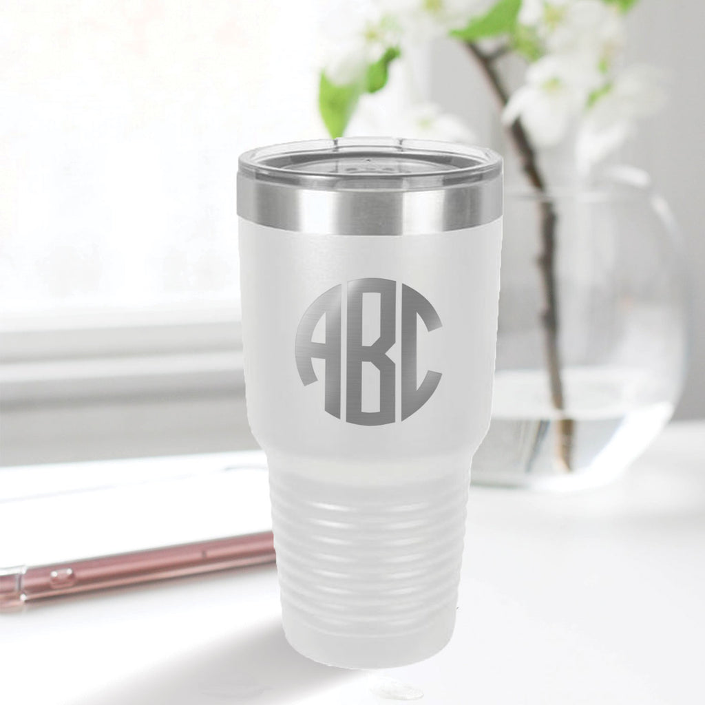 custom engraved 30 oz. tumbler drinkware best sellers white with clear lid