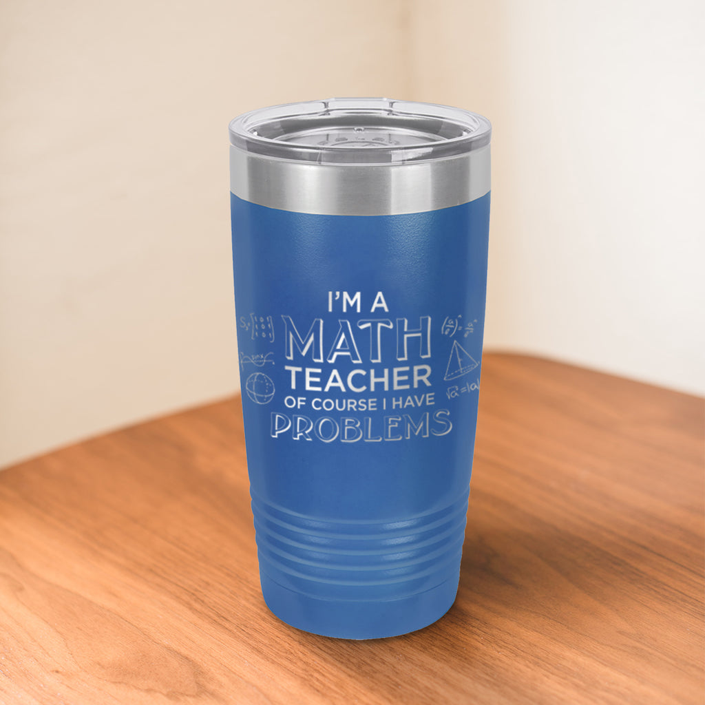 Custom Math Teacher Engraved 20 oz Tumbler