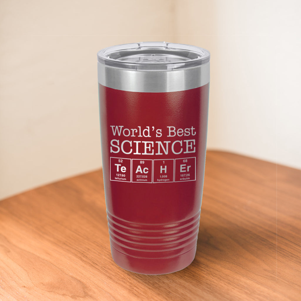 Custom Science Teacher Engraved 20 oz Tumbler