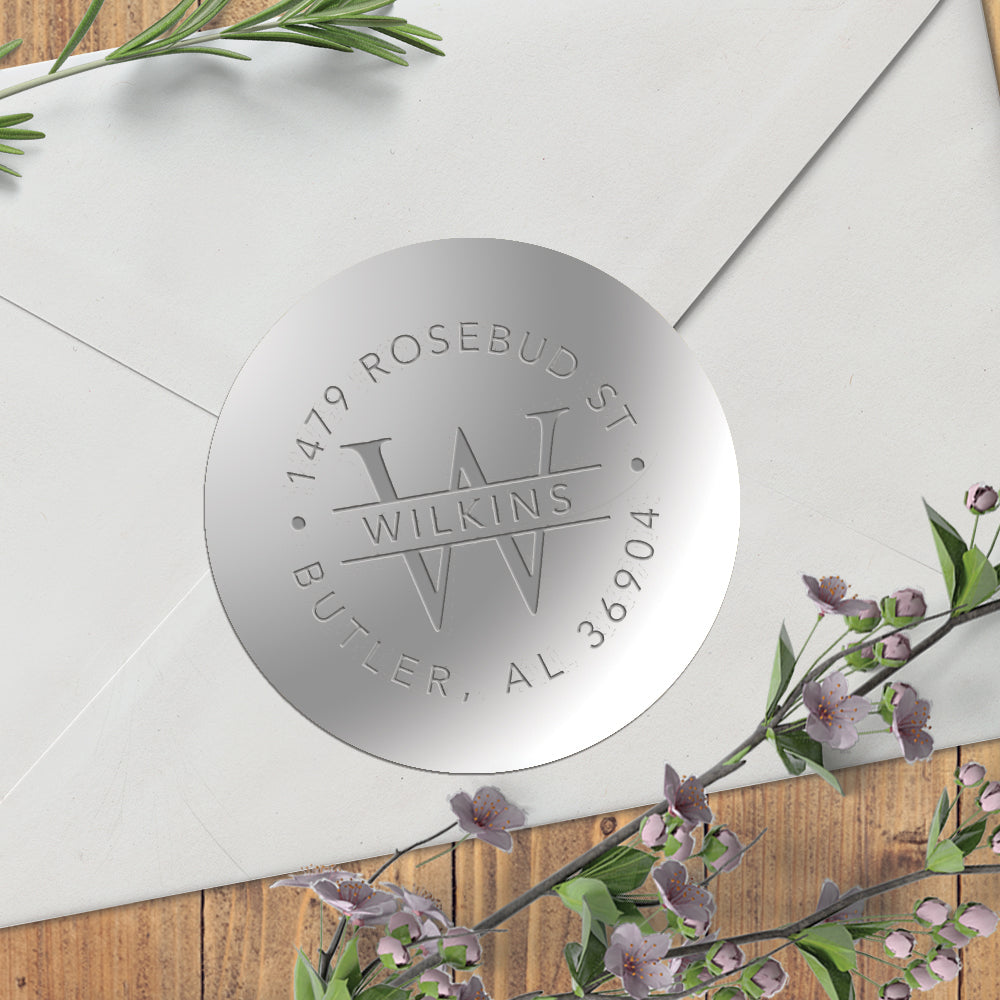 Silver Embosser Foil Seal Sticker