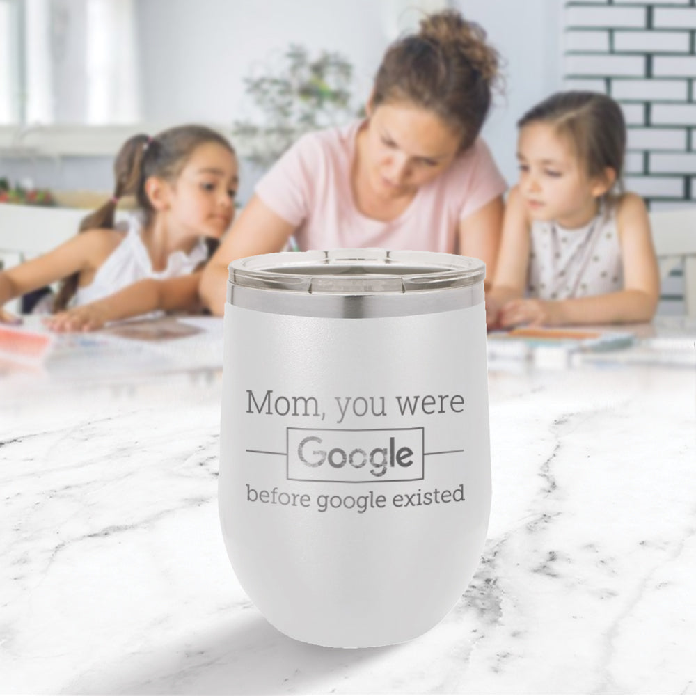 Custom Mom Google Engraved 12 oz Tumbler