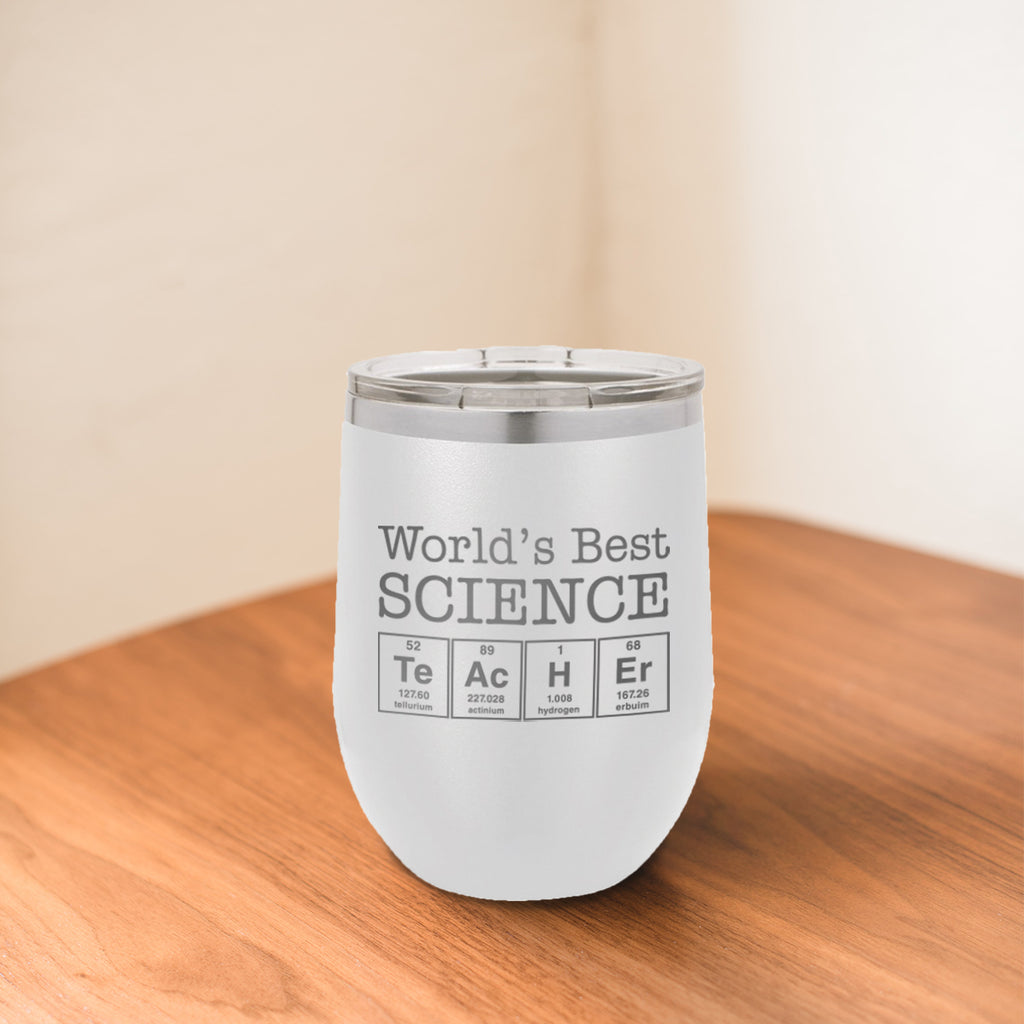 Custom Science Teacher Engraved 12 oz Tumbler