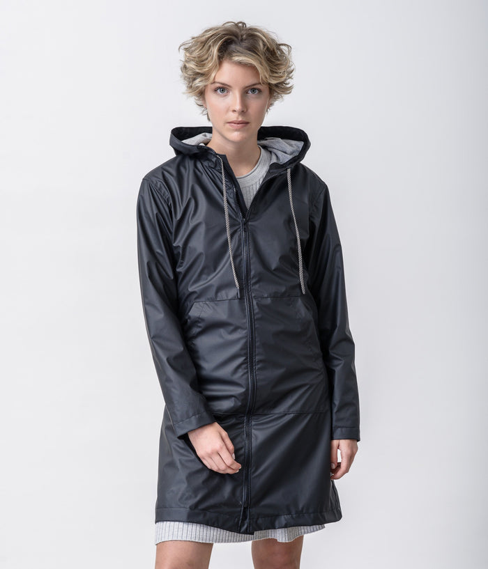 Rain Coat Total Black