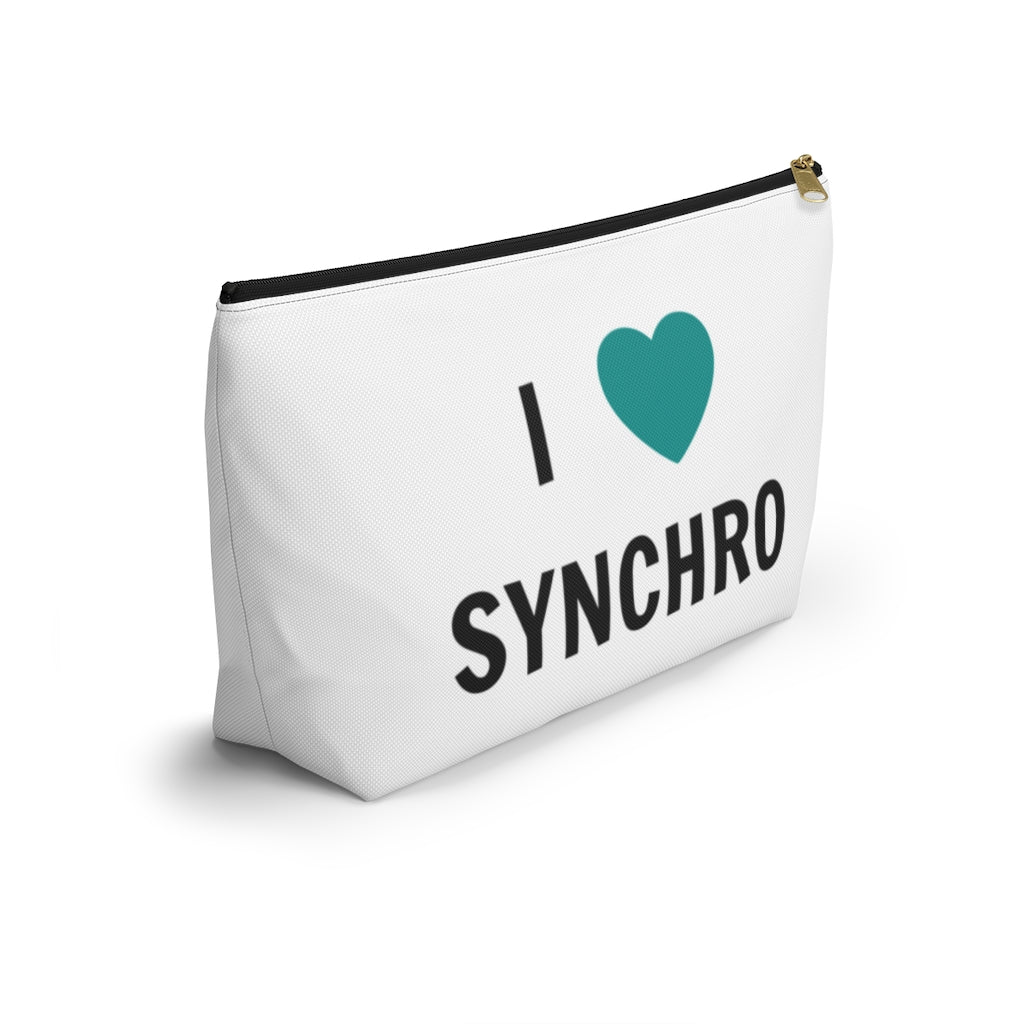 I Love Synchro Accessory Pouch; 2 sizes ($CAD)