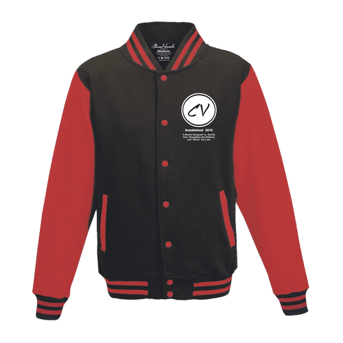 Members Only Chosen Vessels Varsity Signature Jacket (Black & Red)